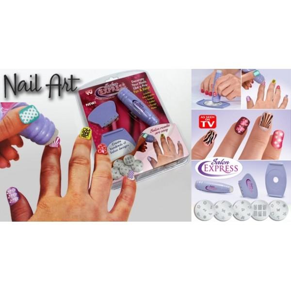 ... SALON EXPRESS NAIL ART STAMPING KIT ... 3195b43070