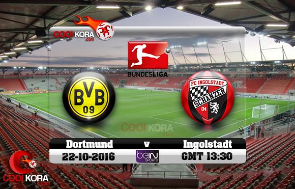 مشاهدة مباراة إنغولشتات وبروسيا دورتموند اليوم 22-10-2016 في الدوري الألماني
