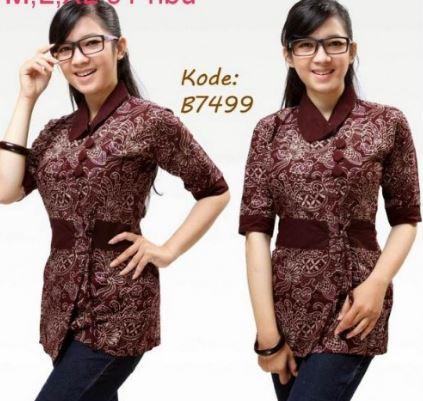 Model Baju Batik Remaja Elegan