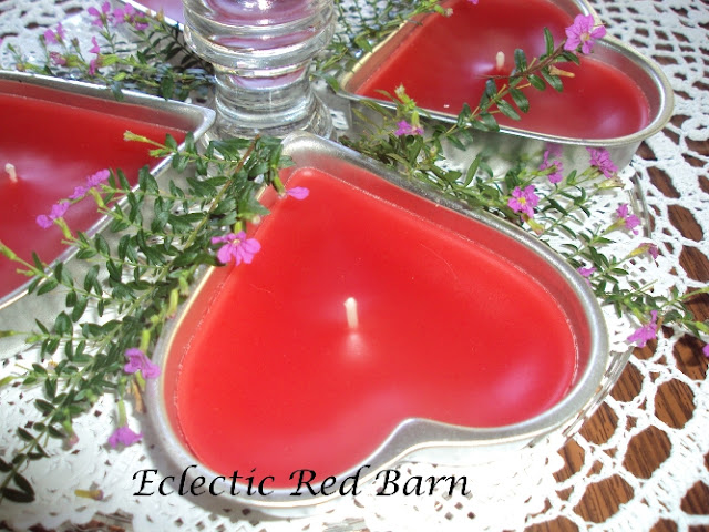 Heart-shaped Tin Candle