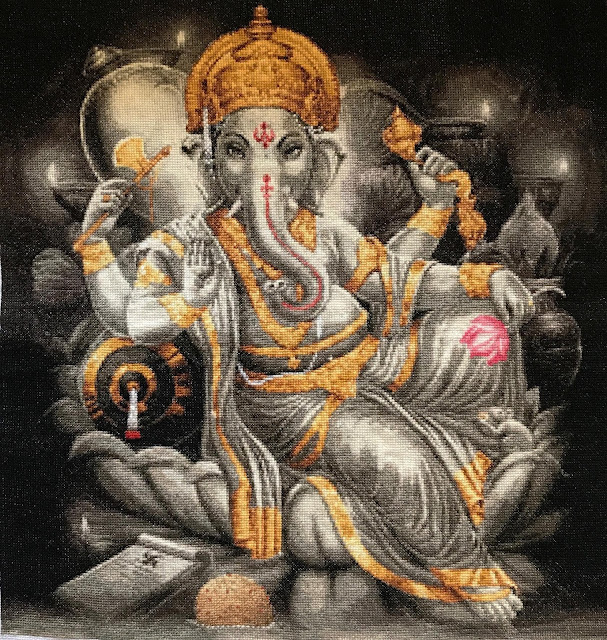 Lord Ganesha made of Stitches