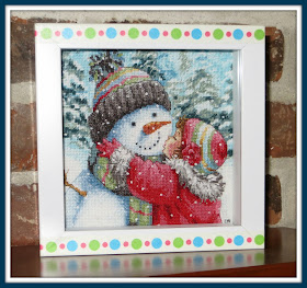 A Kiss For Snowman Dimensions Gold Collection Petites Cross Stitch Kit Brand New