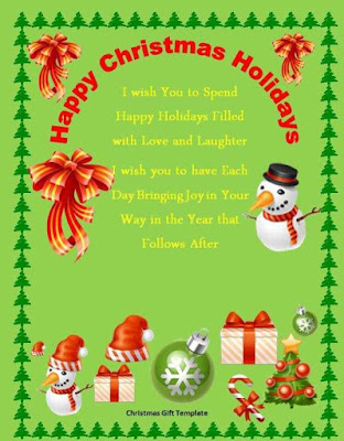 Christmas Certificate Template Word ghaty