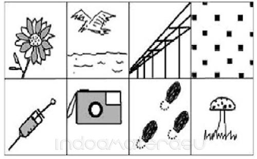 Contoh mengerjakan tes wartegg/ gambar 2