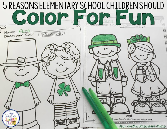Five Reasons Elementary School Children Should Color For Fun!