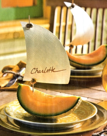 melon sailboat