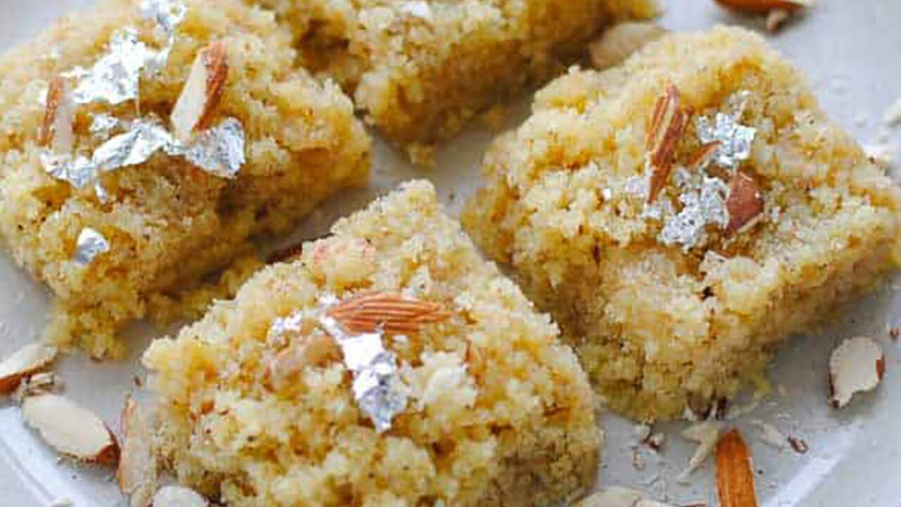 बदामाची बर्फी - पाककला | Badam Burfi - Recipe