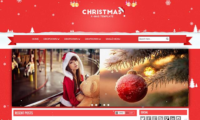 Christmas Blogger Template | Blogger Templates Gallery