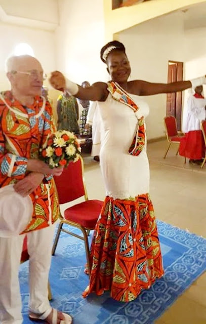 True Love Or Not? Photos Of Young Black Lady Wedding An Old White Man Goes Viral