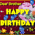 Birthday Wishes For Brother Images on Facebook