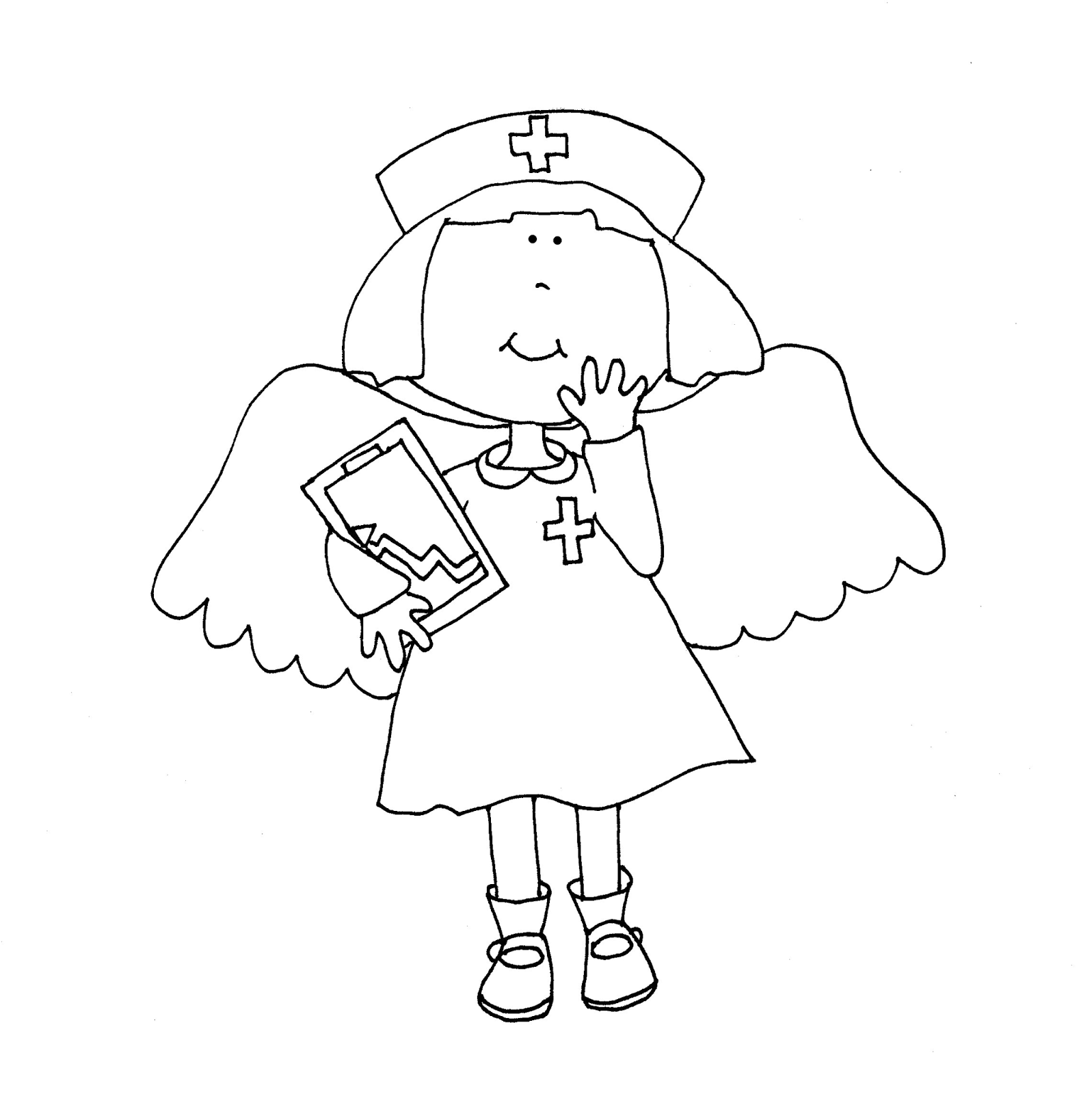 Free Dearie Dolls Digi Stamps: Nurses ARE Angels