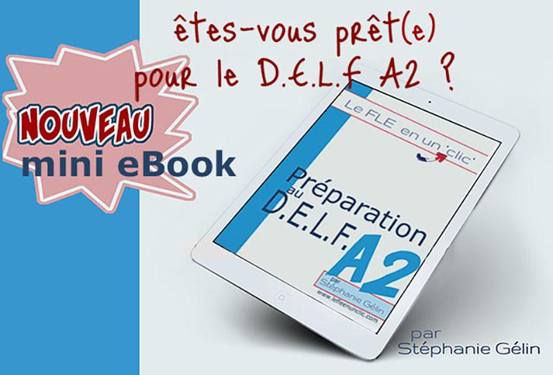 eBook préparation au delf A2, exercices, le fle en un clic, DELF A2