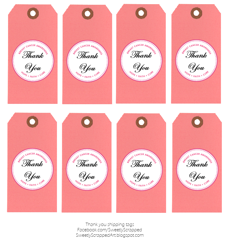 Thank You Labels Template sweetly scrapped breast cancer – Thank You Template Free