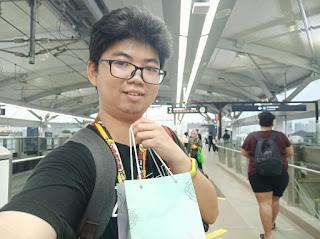 Selfie di Peron Stasiun MRT Cipete Raya