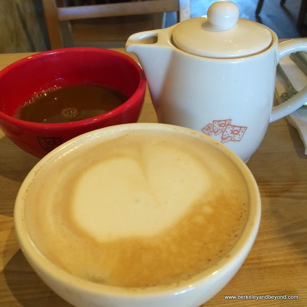 coffee at Le Pain Quotidien in Brentwood, California