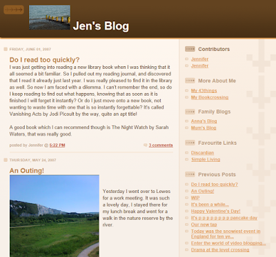 My old blog page