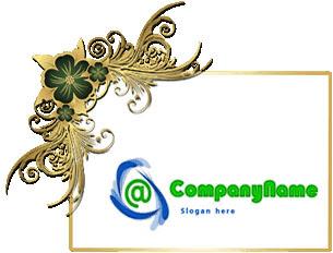 تحميل قالب لوجو أخضر في أزرق 2 لون مفتوح للفوتوشوب, Green and Blue PSD Logo Template
