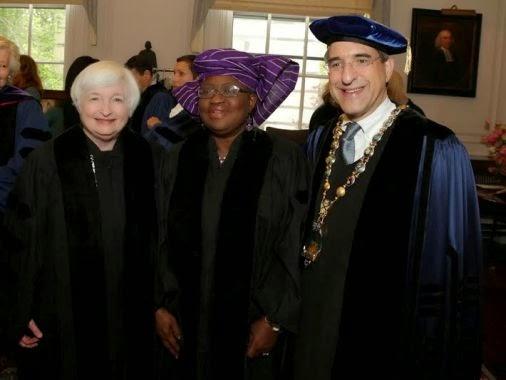 ngozi okonjo iweala withdraw degree