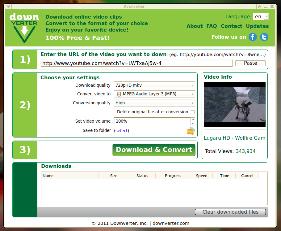 DownVerter: Free YouTube Video Downloader and Converter
