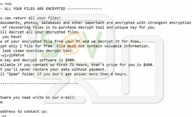Mattpear@protonmail.com MTP (Ransomware)