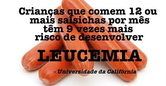Comer salsicha aumenta o risco de câncer e leucemia em crianças, revela estudo