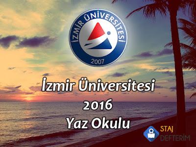 İzmir Üniversitesi 2016 Yaz Okulu