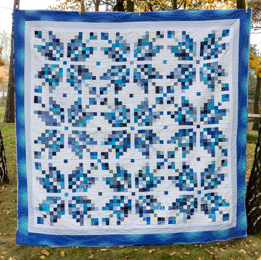 Norwegian Snowflakes Quilt Free Pattern