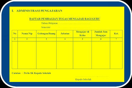 Download File Format Administrasi Kepala Sekolah Lengkap Sesuai Pedoman