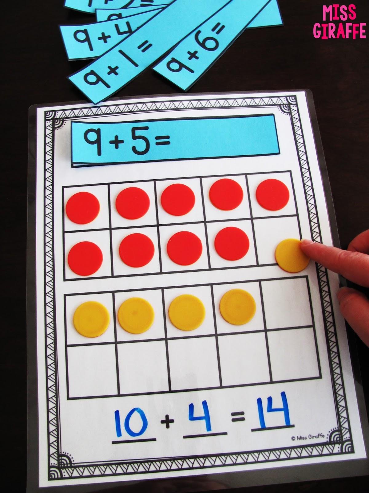 Miss Giraffe's Class: Making a 10 to Add