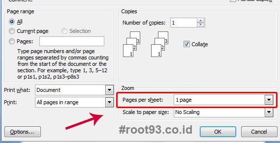Cara Print 2 Halaman Menjadi 1 Lembar Ms. Word di Microsoft Word 2007