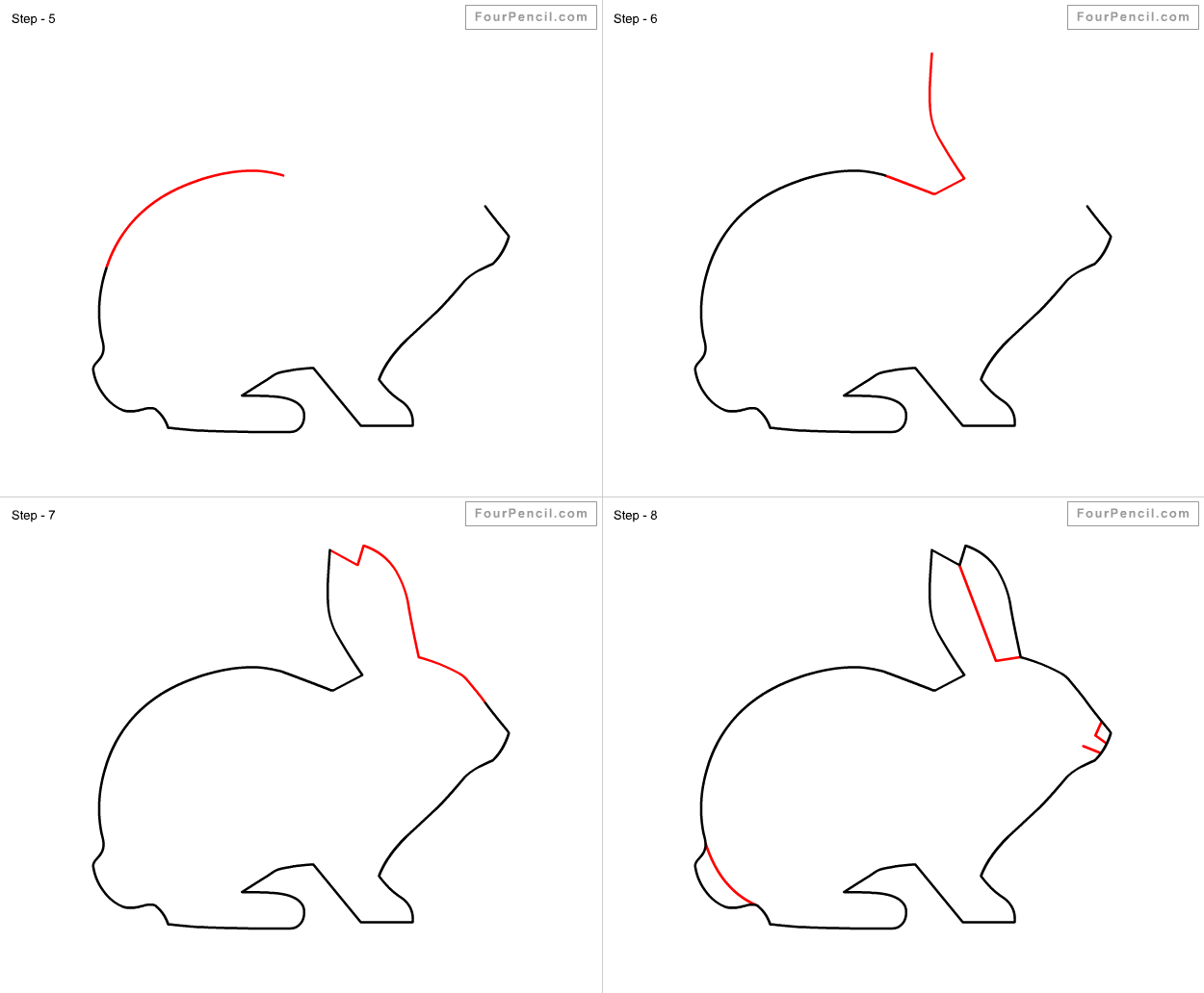 - Fpencil: How To Draw Rabbit For Kids Step By Step