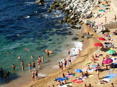 Playa Es Codolar en Tossa de Mar