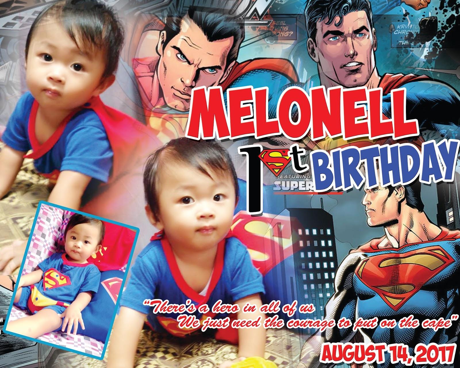 Sample Tarpaulin Design Layout SUPERMAN theme Get Layout