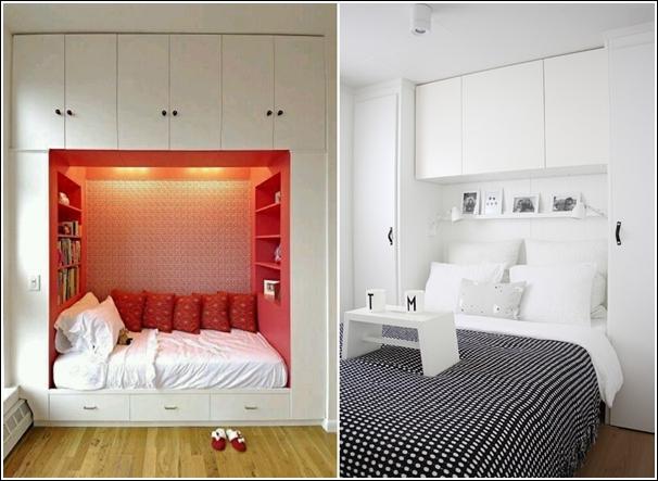 15 Idee fai da te per arredare piccole camere da letto ...