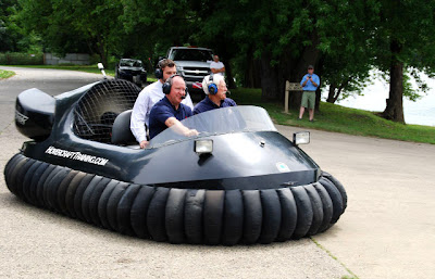 Congressman Larry Bucshon hovercraft flight photo