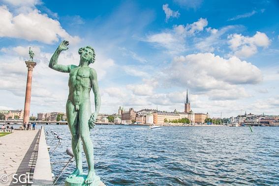 Vista de Gamla Stan desde el ayuntamiento. Estocolmo. Suecia