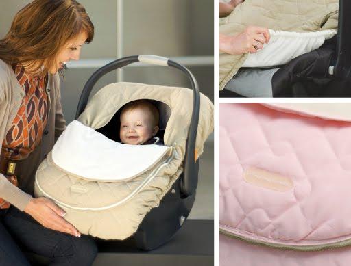 Fleece baby car seat cover