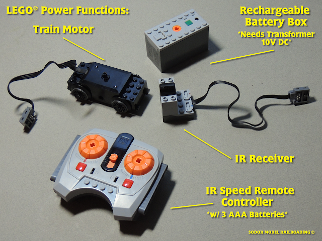 Lego Power Up battery box and remote control