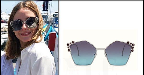 81a03801994b Olivia Palermo with pentagon shape Fendi sunglasses in Italy ~ I want her  style - What celebrities wore and where to buy it. Celebrity Style