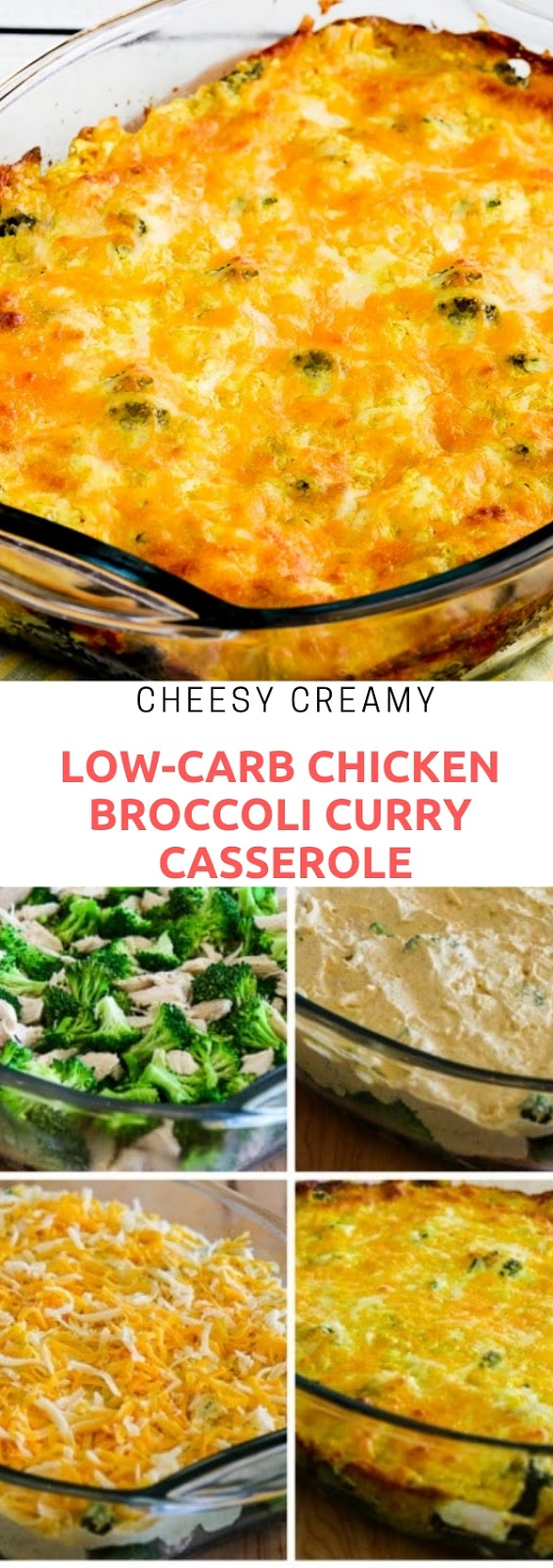 CHEESY CREAMY LOW-CARB CHICKEN BROCCOLI CURRY CASSEROLE #cheesy #creamy #lowarb #chicken #broccoli #curry #casserole #vegan