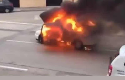 Woman Binds Her Son, Puts Him In Car and Sets It On Fire