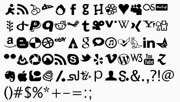 JustVector Social Icons Font by Alex Peattie