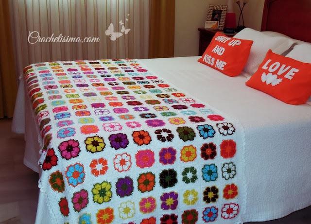 Flor Africana en Crochet African flower Crochet Patter
