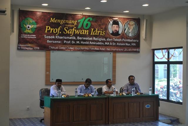 Mengenang Profesor Safwan Idris, Begini Kata Guru Besar di UIN Ar-Raniry