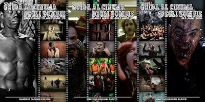 Guida al cinema degli Zombie, le copertine dei 3 volumi scritti da Marcello Gagliani Caputo