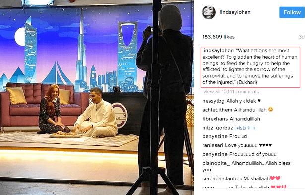 Lindsay Lohan Kongsi Hadis Di Instagram, Akui Al-Qur'an Menenangkan Jiwa
