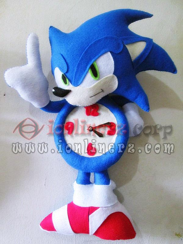 Jam Dinding Flanel Karakter Kartun Boneka Sonic