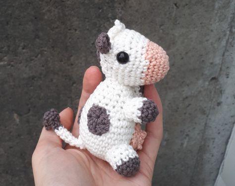 Muuuuuu, una vaca como chupetero para bebé ¡y es de crochet ... | 374x474