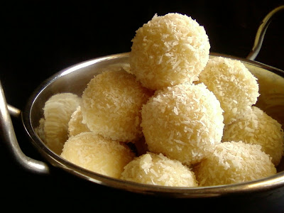 coconut condensed milk laddu