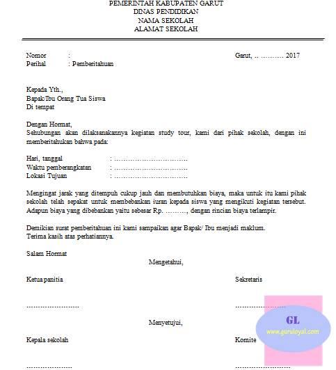Contoh Surat Edaran Iuran Sekolah